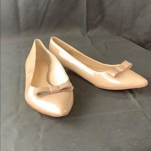 Coach flat cream pink dress shoes